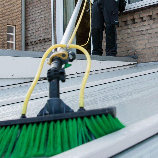 veranda schoonmaken
